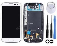 ECRAN LCD + VITRE TACTILE SUR CHASSIS POUR SAMSUNG GALAXY S3 4G i9305 LTE BLANC
