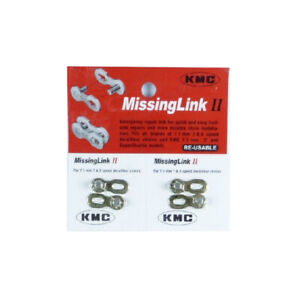KMC CL571R 8 / 7 Speed Bike Bicycle Re-usable Chain Missing Link 7.1 - Silver