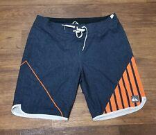 Quicksilver Swimming Beach Summer Shorts Grey Orange Mens Size 36