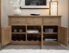 Light Wood Tone Oak Sideboards, Buffets & Trolleys with 3 Drawers