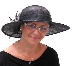 eleganter Damen Hut Anlasshut Hochzeitshut Hutball Festlicher Hut Beerdigung