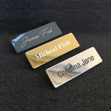 Custom Engraved Metal Name Tag Badge With Pin