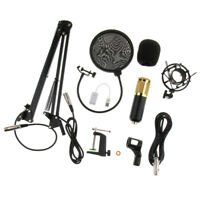 Condenser Microphone Clip Microphone Shield Cover w/Shock Mount XLR Cable