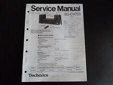 ORIGINAL SERVICE MANUAL TECHNICS Amplifier su-ch700