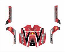 Polaris RZR RANGER 570 800 900 xp GRAPHICS DECAL WRAP DOORS UTV SIDE X  red grey