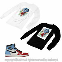 T SHIRT MATCHING STYLE OF Air Jordan 1 Retro High Fearless Chicago JD 1-51-1-L