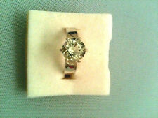 SIZE 7.5 PRASIOLITE RING GREEN SOLITAIRE ROUND 2.44 carats-925 SILVER SET-N-TEX