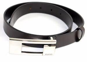 "Auth GUCCI Brown Leather Ladies Waist Belt 65 CM 26"" ITALY Vintage Used Good"