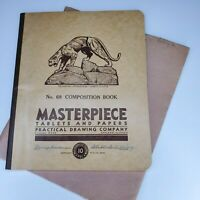 Vintage Masterpiece Tablets & Papers Child's Composition Book Pittsburg 1934