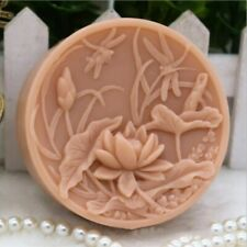 Flower Silicone Soap Molds DIY Craft Handmade Soap Bar Lotus Dragonfly Round