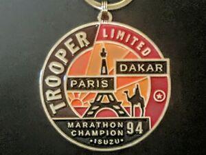 Isuzu Trooper Limited(1994)Dakar To Paris Marathon Emblem Keychain (J12)