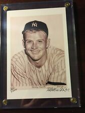Mickey Mantle Artist Signed (Robert W Cox) Lithograph 4 X 6   611 of 4000