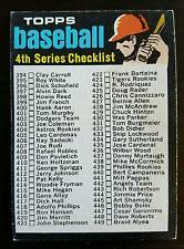 1971 Topps Baseball #369 Checklist 4th Series Unmarked
