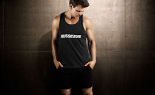 AUSSIEBUM Men's Lifestyle workout T-shirt singlet Black Medium (M) Australia NEW