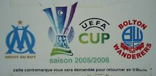 Ticket UEFA CUP 2005/06 Olympique Marseille-Bolton Wanderers