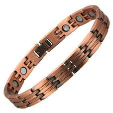 Womens Feathered Copper Magnetic Bracelet For Arthritis & Carpal Tunnel Issues