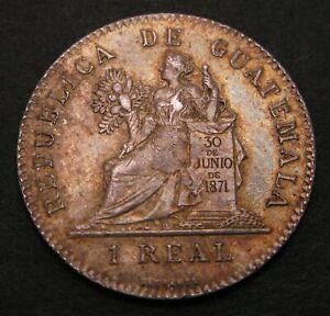 GUATEMALA 1 Real 1897 - Silver - VF - 435