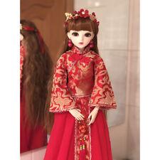 1/3 BJD Puppe Doll Mädchen Augen Gesicht Make-up Vintage Hochzeitskleid Braut