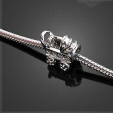 Baby Carriage Stroller Buggy Pram Silver Charm fits European Bracelets +Gift Bag