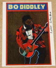 PETER BLAKE BO DIDDLEY SIGNED POP ART POSTCARD BEATLES UACC REGISTERED DEALERS