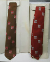 ORIGINAL COKE DRESS NECK TIES  YOUR CHOICE OF BROWN OR RED ONE