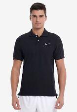 Nike Men's Classic Pique Polo Shirt T-shirt Casual Fold Down Collar Black L