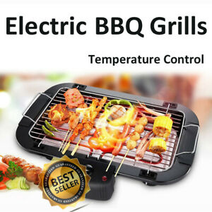 Indoor/Outdoor Portable Electric Barbecue Grill Cooking BBQ Automatic thermostat
