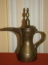 Antique/Old Vintage Handmade Turkish/Arabic Copper Tea/Coffee Pot w/Brass Handle