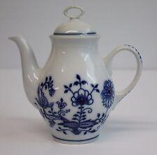 4 Blue Danube Bohemia Zwiebelmuster Serving Mini Teapots Blue Onion Czech