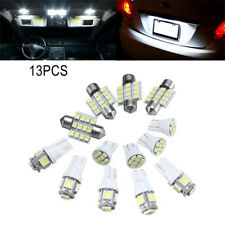 13PCS Car LED Light Interior Package  Xenon White Bulbs  T10 & 31mm direct plug