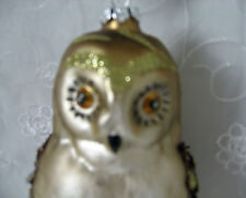 Owl Glittered Ornament Target 2013 New with Corner Cut Tag