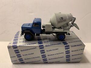 CONRAD NZG MAGIRUS CEMENT MIXER TRUCK BLUE & GREY BOXED