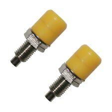Conector telefónico laboratorio hembra 4mm amarillo 2 trozo (0198)