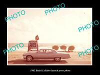 OLD LARGE HISTORIC PHOTO OF 1962 BUICK LASABRE CAR LAUNCH PRESS PHOTO