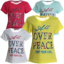 Kurzarm Mädchen-T-Shirts & -Tops im Tunika-Stil mit Rundhals-Ausschnitt