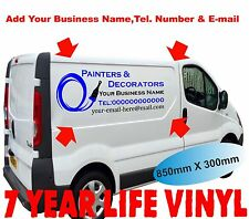 2 x Vehicle Sign Writing Self Adhesive Vinyl Graphics Sign Making Waterproof