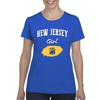 New Jersey Girl  Women Shirts T-Shirt Tee
