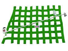 STR Race Window Net SFI 27.1 Certified Installation Kit Autograss Mini - Green