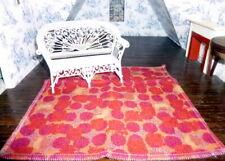"""Designer Fabric 1:12 DOLLHOUSE MODERN RUG 8"""" x 8"""" Lee Jofa"""