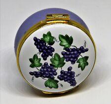 Crummles English Enamel Box - Vines Of Grapes - Colonial Williamsburg Virginia
