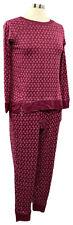 CAROLE HOCHMAN size XS crushed berry print marshmallow jersey long PJ set