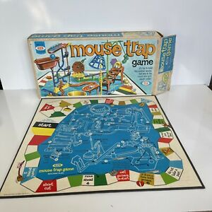 Vintage Ideal 1975 Mouse Trap Game Box and Game Board Only