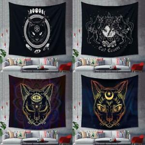 Cat Mysterious Divination Witchcraft Tapestry Wall Hanging Tapestries Bapho M/