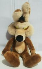 Vintage Warner Bros Wile E Coyote Plush Stuffed Animal Mighty Star 1990