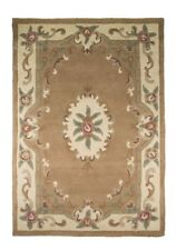 Flair Rugs Lotus Premium Aubusson Traditional 100 Wool Rug Fawn W150cm X L240cm