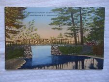 BRIDGE OVER OUTLET AT BRANTINGHAM NY NEW YORK  USED POSTCARD