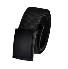 Men's Golf Belt in 1.5 Black Flip Top Buckle with Adjustable Canvas Web Belt