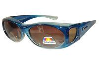 Figuretta Sonnen-Überbrille blau UV400 Polarisiert für Brillenträger Polbrille