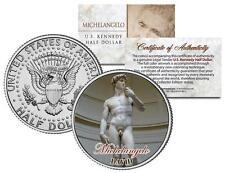 MICHELANGELO Statue of * DAVID * Colorized JFK Kennedy Half Dollar U.S. Coin