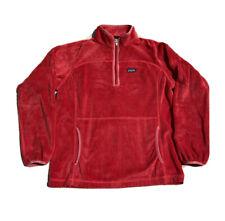 Patagonia Plush Marsupial Flash Pink 1/4 Zip Fleece Pullover Sweater Girls Xxl